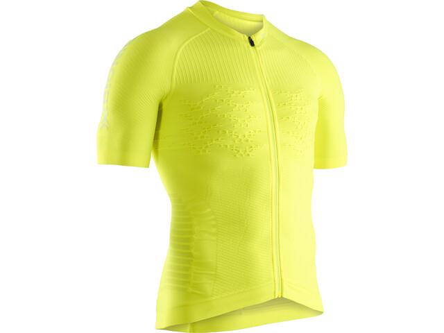 X-Bionic Effektor G2 Maglietta da ciclismo a maniche corte con zip Uomo, phyton yellow/arctic white